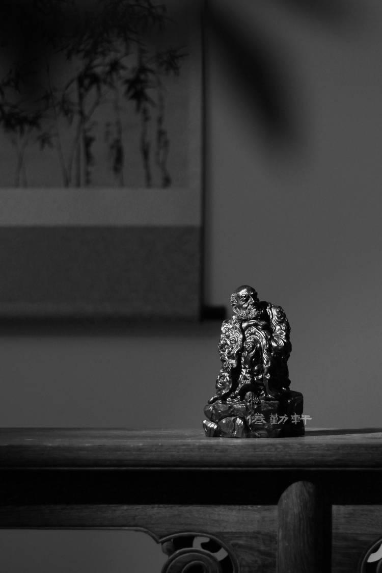 高阶禅意雕刻艺术造像——达摩为尊