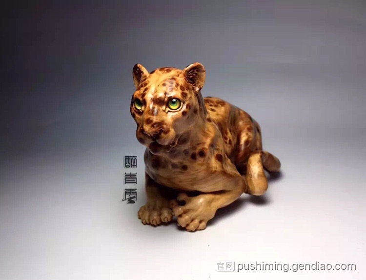 一组精美的豹子雕刻作品欣赏
