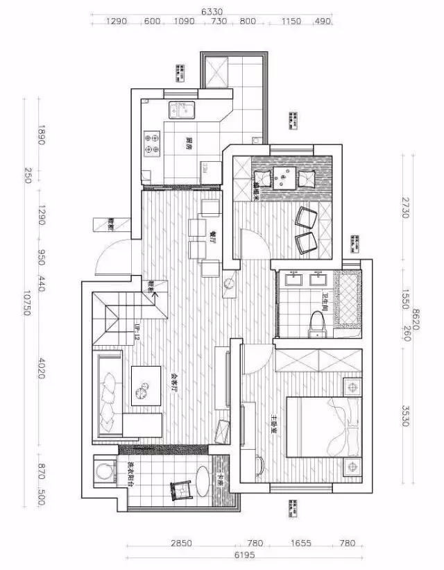 75平的房子能改5间房,有个阁楼果然不一样!