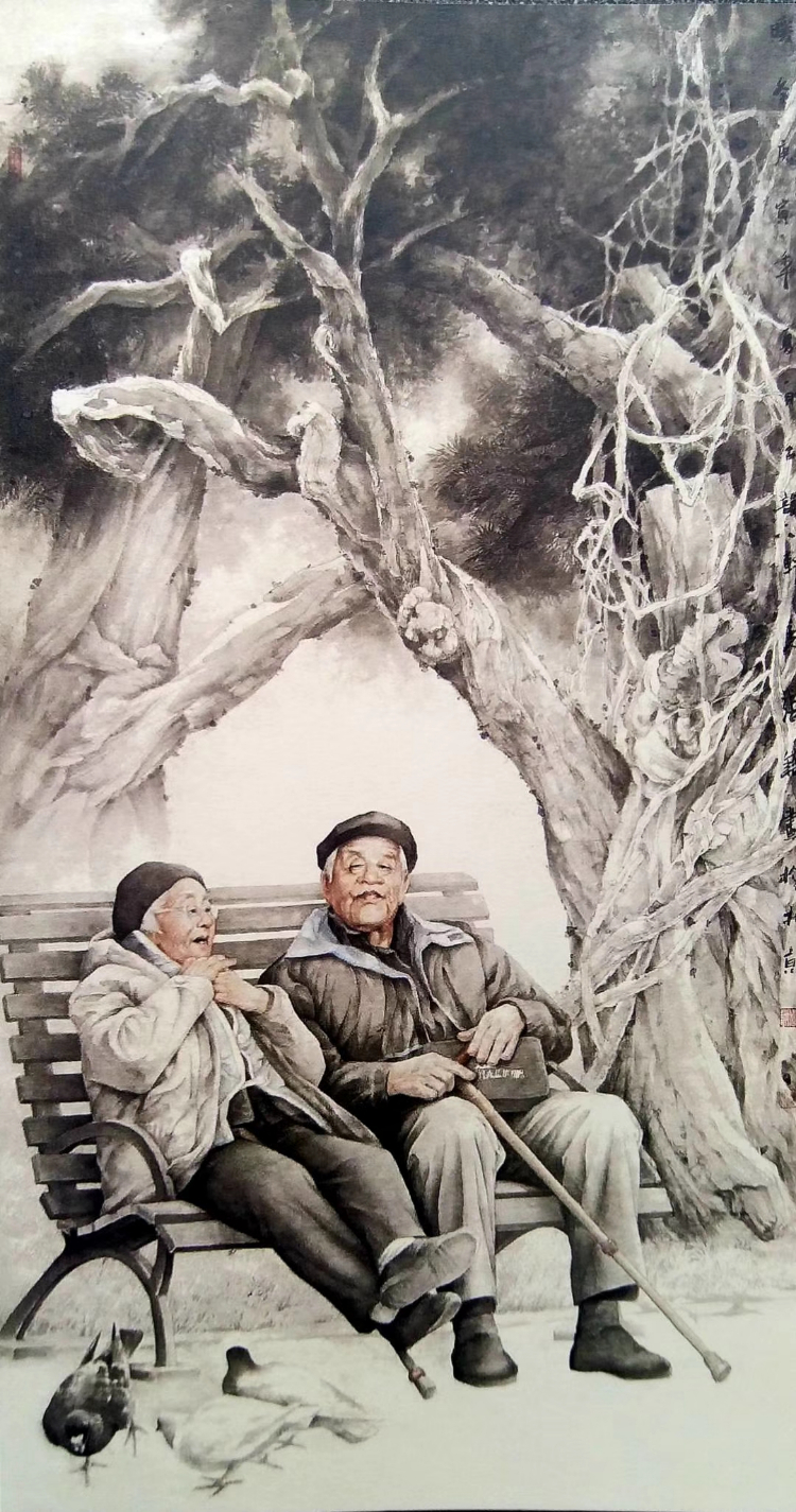 张镛中国画:求索路上的行者