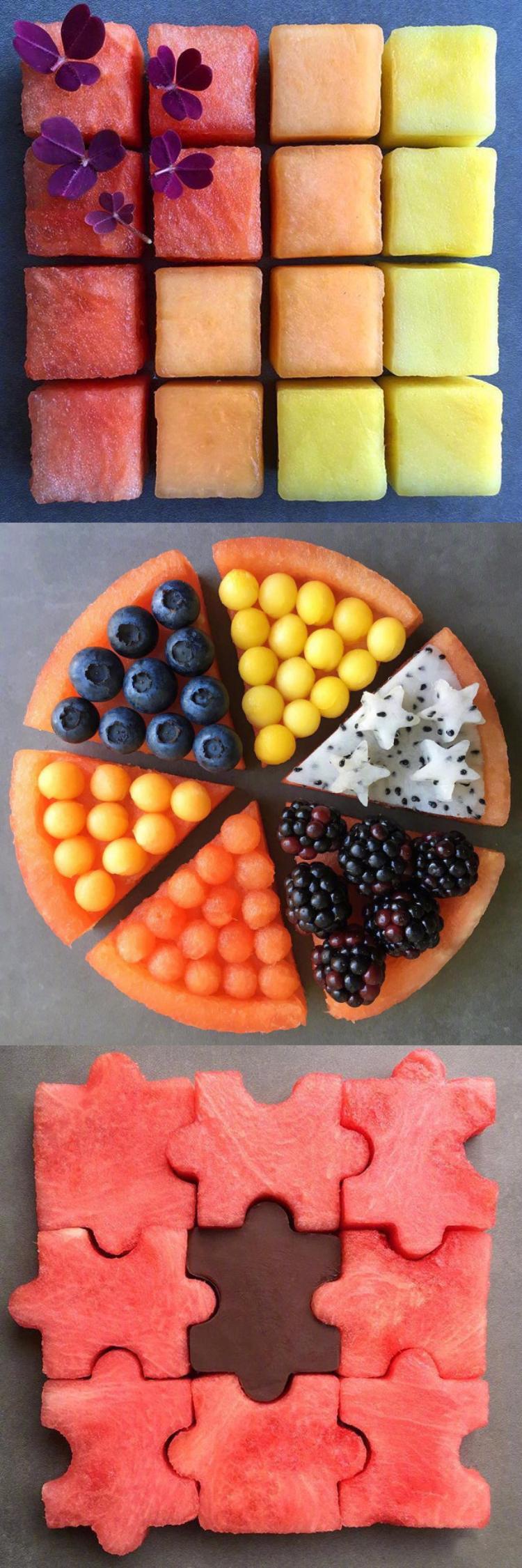 一位妈妈为自己的孩子准备的水果,可以治好我的强迫症了