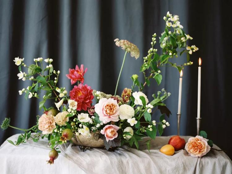 花艺素材集 | 桌花插花与手捧花