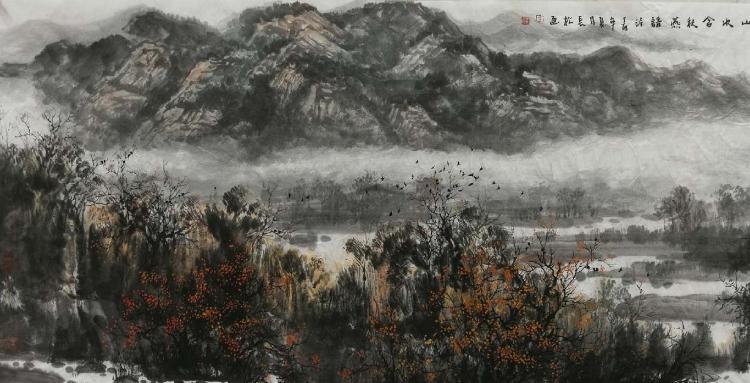 李长松山水画:豪气凌霄唱大风