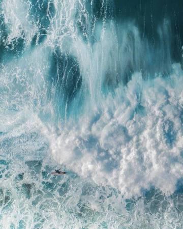 喜欢大海,喜欢浪 