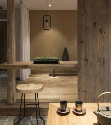 大户型天然木质设计。