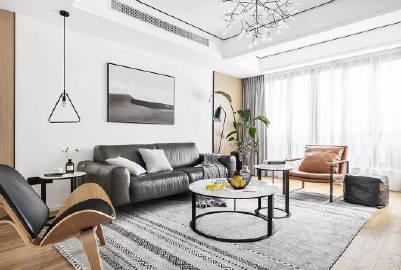 130㎡现代简约   简单而纯粹的留白设计带来极度舒适
