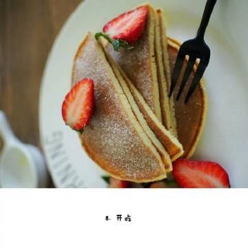 【原味松饼】适合新手操作,简单的配上巧克力酱或蜂蜜,搭配一杯咖啡或果汁,营养就全面咯!