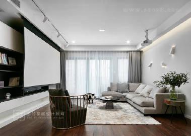 175㎡现代都市风,简单的黑白灰以及温润的木色,营造出温暖安静的氛围。#家居装修#