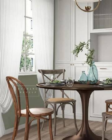 78㎡现代复古混搭两居室,简洁典雅~ #家居装修#