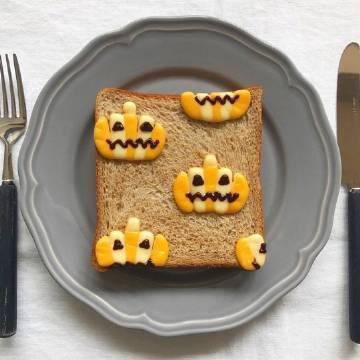 今日份可爱吐司早餐🍞